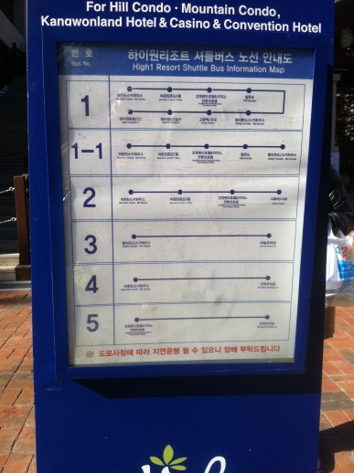 Shuttle timetable and routes