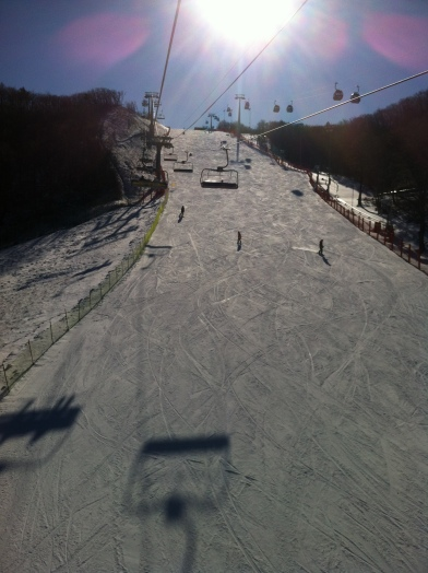 Wide slopes on Athena 2 from the Ski Lift
