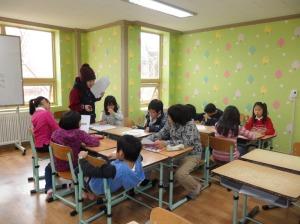 kids studying in gongbu bang