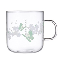 Butterfly Glass Mug